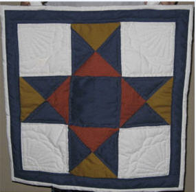Amish-made wall hanging