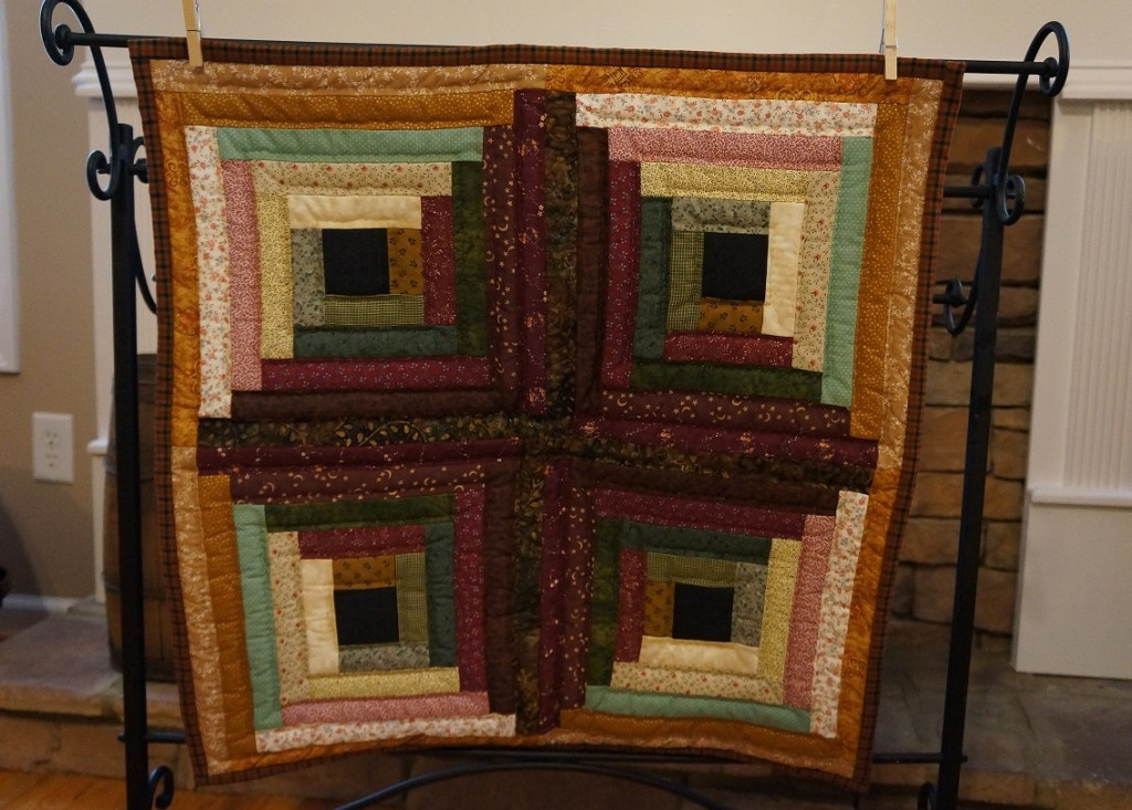 Log Cabin Wall Hanging