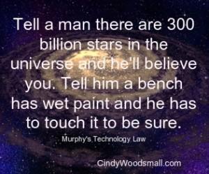 Tell a man
