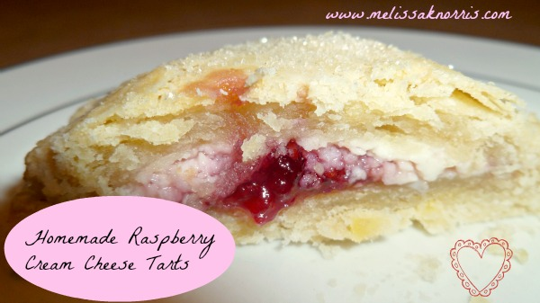 homemade raspberry cream cheese tarts